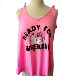 Peanuts Ready for the Weekend Tank Top Size XL